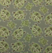 "TOMMY BAHAMA TRANQUIL TURTLE FOSSIL GRAY D4147 TORTOISE FABRIC BY YARD 54""W"