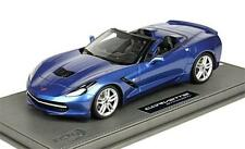 2014 Corvette Stingray C7 Convertible in Laguna Blue by BBR 1:18 Scale P1872B