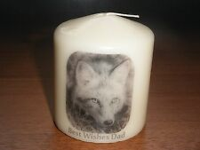 Candle Picture Fox Can be Personalised Birthday Friends Mum Dad Love Grandad New