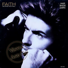 GEORGE MICHAEL - Faith [3'14] Hand To Mouth [4'36] Vinyl 1987 MAXI 45 TOURS 12""