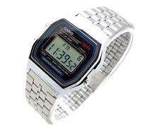 CASIO A159WA-N1DF wrist watch Unisex Retro vintage digital chronometer steel UK