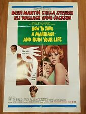 HOW TO SAVE A MARRIAGE AND RUIN YOUR LIFE DEAN MARTIN ORIGINAL MOVIE POSTER 1968