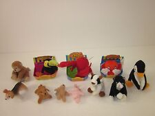 Lot of Only Hearts Club Pets Inky Octopus Sammie Santa Claus Cat Cow Plush