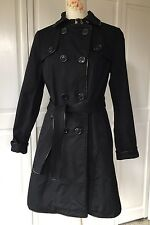 Express  Classic Belted Trench Coat Rain Coat  Black  Cotton Blend  Size Small