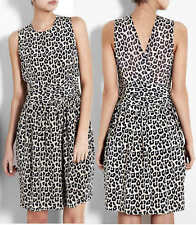 PHILLIP LIM 3.1 leopard print silk dress SIZE 2