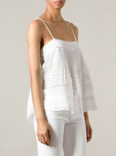Isabel Marant Odelle cotton cami lace straps white ramie camisole top blouse 36