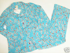 NWT Munki Munki Pajama Shirt Pants Sock Monkey XL Sleepwear Sleep NEW Fleece