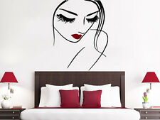 Face Makeup Wall Decal Beauty Salon Lips Eyes Vinyl Sticker Decals Girl NS997