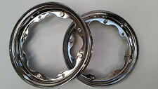 LAMBRETTA CHROMED WHEEL RIMS 10 INCH PAIR GP LI TV SX