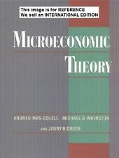 Microeconomic Theory by Andreu Mas-Colell, Jerry(Int' Ed Paperback, 1995)1st Ed