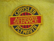 "Vintage Chrysler Plymouth Approved Service Dealer Uniform  Patch 3 1/4"" X 2 7/8"""