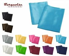 High Quality 2 Pieces of Colorful Shiny Satin Pillow Case, Multi Size/Color