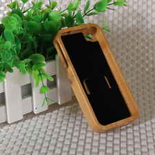 Luxury Style Real Handmade Natural Wood Wooden Bamboo Cover Case For Iphone 4 4S
