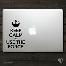 Star Wars Keep calm and use the force Macbook Decal / Macbook Sticker