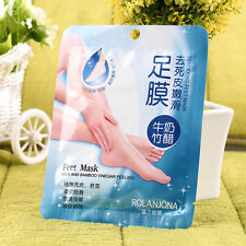 New 1 Pair Milk Bamboo Vinegar Remove Dead Skin Foot Skin Smooth Mask Care#H
