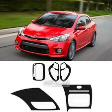 Carbon Gear Steering Wheel Center Fascia Decal Sticker for KIA 14-17 Cerato Koup
