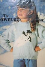Childs Snowman Christmas Jumper Knitting Pattern (CK009)