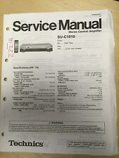 Original Technics Service Manual for the SU-C1010 Control Amplifier Amp     mp