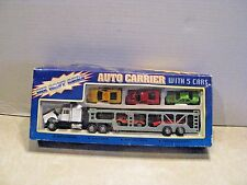 Diecast Auto Carrier w 5 Cars 1:64 Scale In box
