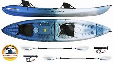 Ocean Kayak Malibu Two XL Tandem Kayak - Paddle Package - Surf Blue, 2016