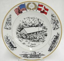 B&G US Bicentennial 1976 Plate Lincolns Cabin Danish Immigration to America
