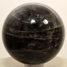 "2"" Natural Black MOONSTONE Sphere Feldspar Crystal Mineral - Madagascar + Stand"
