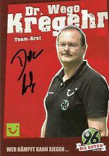 DR. WEGO kregehr-Hannover 96-stagione 2006/2007 - autografo cartolina