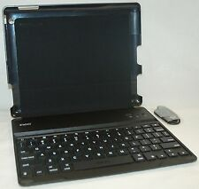 ZaggKeys Apple iPad 2/3/4 BLACK ProFolio Keyboard Shell Case stand bluetooth USA
