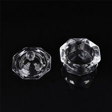 Crystal Glass Dappen Dish with Lid Bowl Cup Nail Art Craft Salon School Tool WB