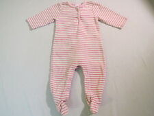 Baby Gap Shades of Pink Striped Footed Romper, 3-6 mos.