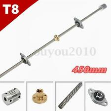 3D printer T8 450mm Stainless Steel Lead Screw +coupling shaft +mounting support