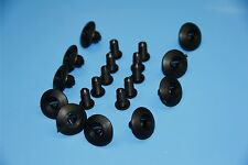 8-9 MM HONDA BLACK PLASTIC RIVET SIDE SKIRT PANEL DOOR BUMP TRIM CLIPS
