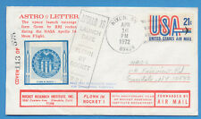 Rocket Mail - E-Z 163 C1b - ASTRO-LETTER, 1972 RRI  Rocket 1 for Apollo 16