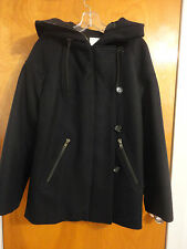 Surface to Air Cocoon Oversized Navy Blue Wool Cashmere Hooded Coat 38 M APC