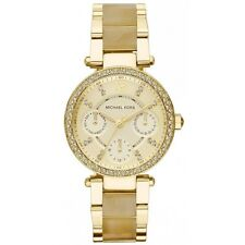 Michael Kors Women's MK5842 Chronograph Mini Parker Gold-Tone Stainless Steel Wa