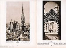 Wien 20 orig. Phototafeln 1938 Stephansdom Kinskypalais Schönbrunn Lilienfeld