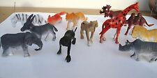 """40 2"""" SMALL  PLASTIC WILD ZOO ANIMALS. CARNIVAL OR EDUCATIONAL TOYS. PARTY"""