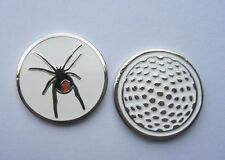 1 only RED BACK SPIDER GOLF BALL MARKER approx 23mm