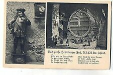 D 332 - Heidelberg, Perkeo mit großem Heidelberger Fass, Spruch, ugl., König