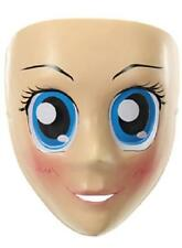Japanese Animation Style ANIME Blue EYES Mask Costume Prop Kawaii OTAKON Cosplay
