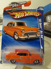 Hot Wheels '55 Chevy Bel Air Hot Auction Orange Keys to Speed Card