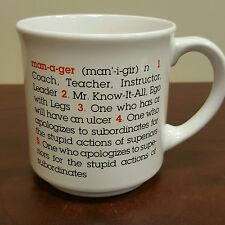Funny Definition Of Manager Job Responsibilities Coffee Mug B24