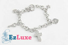K-POP Korean Drama MY GIRL Charm Bracelet Cross Love Heart Key Lock Star chain