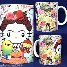 Hello kitty meets Frida kahlo ver. 3 edition 11 oz cup coffee mug LadyKitty