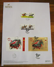 FREE Poster Special Horses Taman Equine KL Malaysia First Day Cover FDC 2014