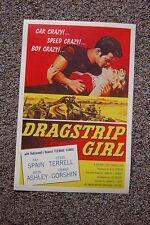 Drag Strip Girl Lobby Card Movie Poster Fay Spain Steve Terrell John Ashley