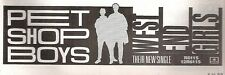 PET SHOP BOYS West End Girls UK magazine ADVERT/ clipping 8x3 inches