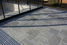 Kandla Grey Indian Sandstone Paving - Calibrated Patio Flags Garden Slabs 15.3m2