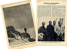 Shackletons Polo Sud Expedition relazione con sei fotografie storico di 1909