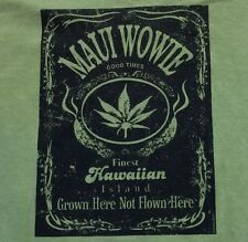 NWT M-L-XL MENS MARiJUANA PAKALOLO Weed MAUI WOWiE Hemp Dyed CRAZY SHiRTS Hawaii